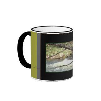 Taza del té del café del árbol y del agua por