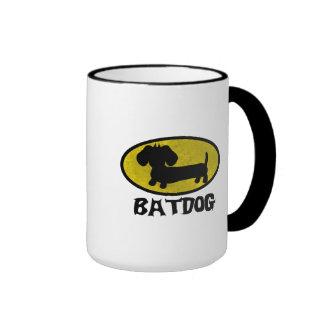 Taza del té del café del perro de la salchicha de