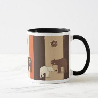 Taza del té del café el | de los elefantes