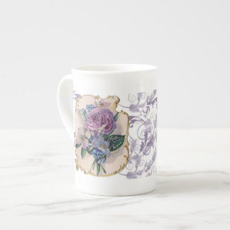 Taza del té del diseño del vintage taza de porcelana
