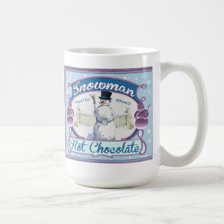 Taza del té o de café del muñeco de nieve de la et