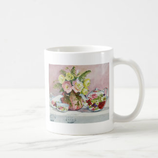 Taza del té rosado