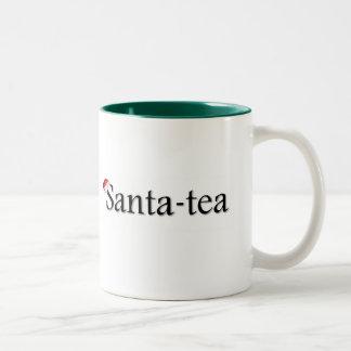 Taza del té verde del navidad del Santa-Té