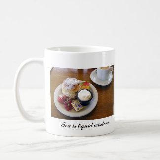 Taza del té y de los Scones