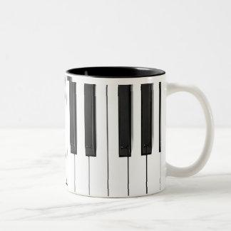 Taza del teclado de piano