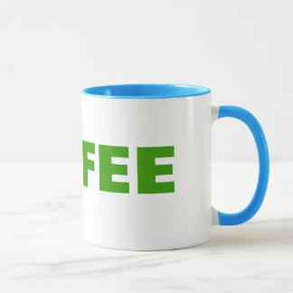 Taza del tenis para los adictos al café