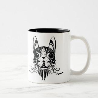 taza del terrier de Boston del perro del perrito d
