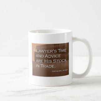Taza del tiempo de un abogado