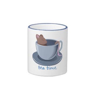 Taza del tiempo del té del Dormouse