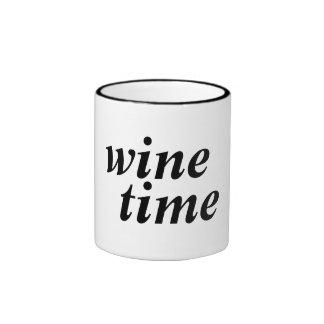 taza del tiempo del vino