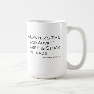 Taza del tiempo y del consejo de un abogado