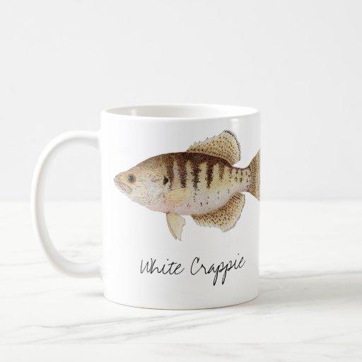Taza del tipo de pez negro y blanco