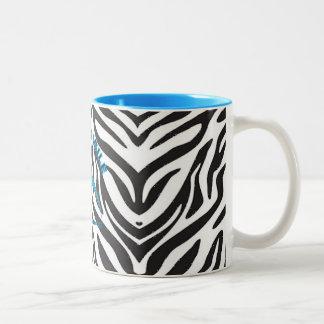 Taza del tono del estampado de zebra dos de Hyperm