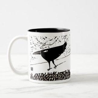 taza del tótem del cuervo/del cuervo