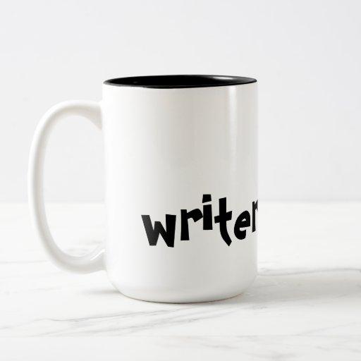 Taza del trabajo del escritor @