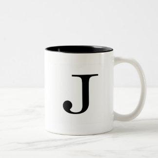 Taza del trazo de pie J