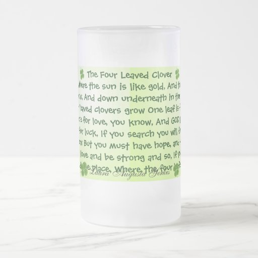 taza del trébol de cuatro hojas
