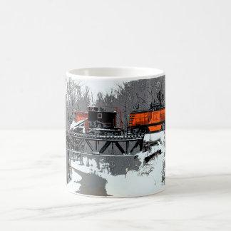 Taza del tren de la nieve