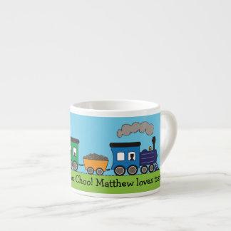 Taza del tren del vapor de Choo Choo del niño Tazitas Espresso