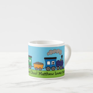 Taza del tren del vapor de Choo Choo del niño Taza Espresso