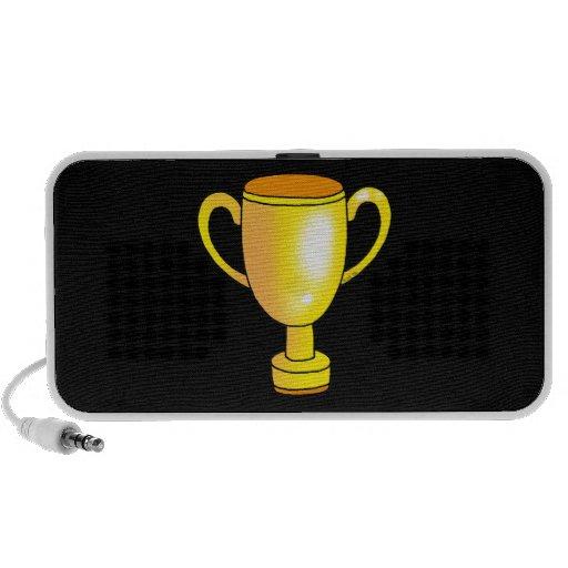 taza del trofeo del campeón del oro iPod altavoces