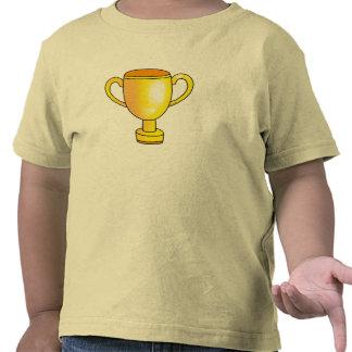 taza del trofeo del campeón del oro camisetas