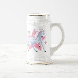 Taza del unicornio con las estrellas
