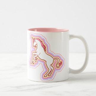 Taza del unicornio del arco iris