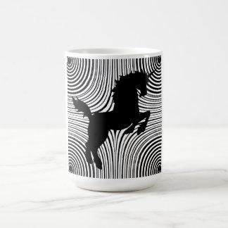 Taza del unicornio del corte del papel