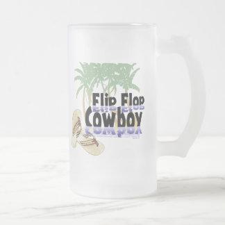 Taza del vaquero del flip-flop