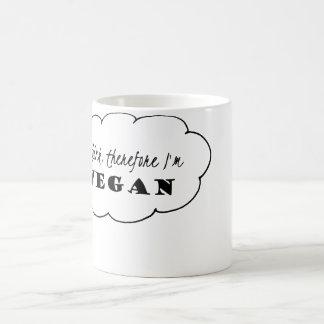 Taza del vegano, pienso que por lo tanto soy taza