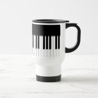 Taza del viaje - blanco del negro del teclado de p