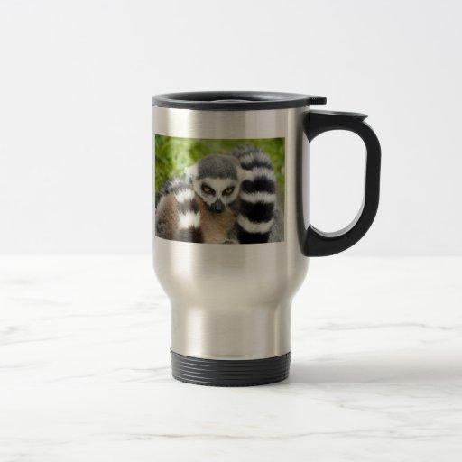 Taza del viaje - cola linda de Stripey del Lemur