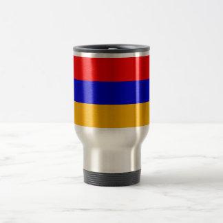 Taza del viaje con la bandera de Armenia