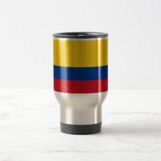 Taza del viaje con la bandera de Colombia