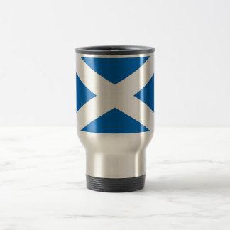 Taza del viaje con la bandera de Escocia