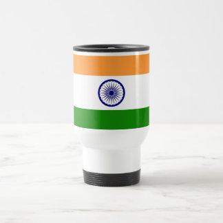 Taza del viaje con la bandera de la India