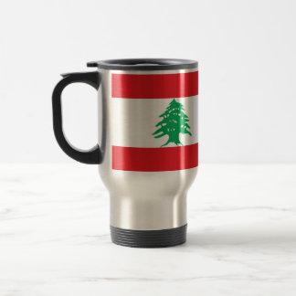 Taza del viaje con la bandera de Líbano