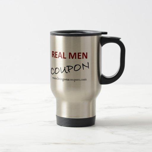 Taza del viaje - cupón real de los hombres