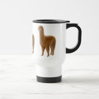Taza del viaje de la alpaca de Brown