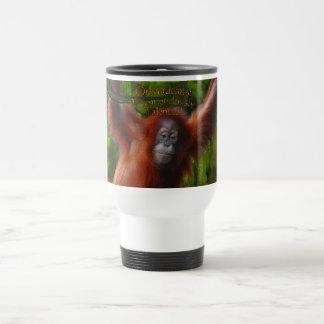 Taza del viaje de la diversión del orangután del