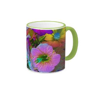 taza del viaje de la flor