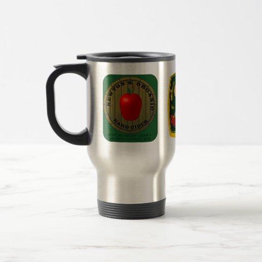 Taza del viaje de las etiquetas de la cerveza de l