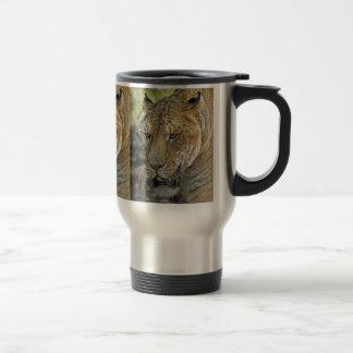 Taza del viaje de Liger medio león del medio tigr