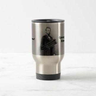 Taza del viaje de Lincoln del Cyborg