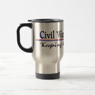 Taza del viaje de Reenactor de la guerra civil