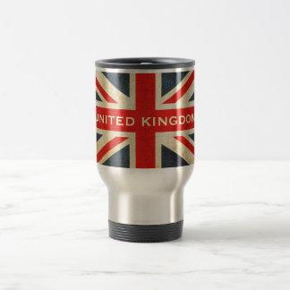 Taza del viaje de Union Jack Reino Unido del Grung