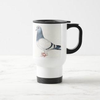 Taza del viaje del arte del pájaro de la paloma