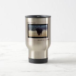 Taza del viaje del búfalo del cabo