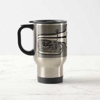 Taza del viaje del café de la tuba